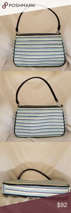 LULU GUINNESS nautical striped shoulder bag Excellent condition.  Nautical striped woven straw shoulder bag. lulu GUINNESS Bags Shoulder Bags
