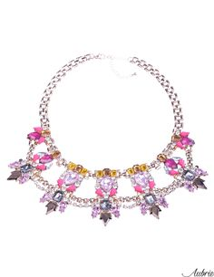 #aubrie #aubriepl #aubrie_necklaces #necklaces #necklace #jewelery #accessories #jenn #pastel #colorful #shine #crystal #pink #gold