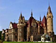 Moszna Castle in Poland via flickr. Inspiration for Disney's Cinderella Castle