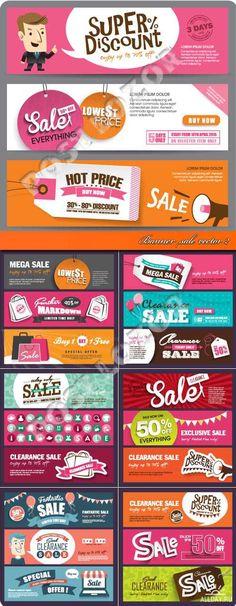 Баннеры скидка 2 | Banner sale vector 2