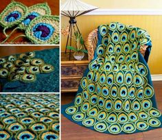 Free Pattern for the Trendy and Beautiful Peacock Applique and Blanket Peacock feathers are one of natures most beautiful creations. They are stunning in real life and aren't always the easiest to recreate. There are two designers that did a perfect job of making these lovely motifs and blanket look beautiful and accurate… and much …