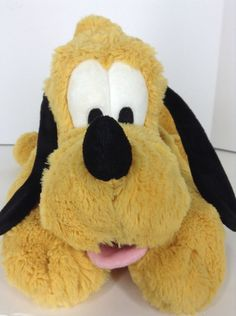 "Disney Store Pluto Stuffed Plush Dog 16"" 41m Mickey and Friends Exclusive  