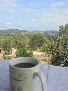 It's good to have a coffee but it's better when you have it against a perfect view.