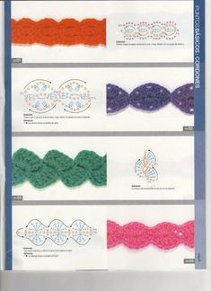 Learn to Crochet – Crochet Wave Fan Edging. How I made this wave fan edging border stitch. Bandeau Crochet, Crochet Flower Headbands, Crochet Cord, Crochet Mask, Crochet Headband Pattern, Crochet Lace Edging, Crochet Borders, Crochet Bracelet, Crochet Stitches Patterns