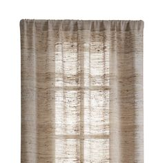 "Free Shipping.  Shop Hayden 48""X84"" Silk Curtain Panel.  From afar, Hayden silk curtains float a solid natural tone.  Up close, the curtain panel reveals its slight luster and a wealth of textural nubs, beautiful characteristics of handspun silk."