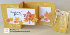 "A Double Z-fold card using the Colorful Seasons bundle and a cute 6""x6"" bag with the Color Theory Paper Stack. .#colorfulseasons #stampinupaustralia"