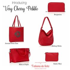 Love the red! Jewell in Very Cherry Pebble Thirty-One Fall 2016 www.mythirtyone.ca/tatiana