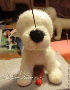 Мастер-класс по валянию щеночка бигля из шерсти - Ярмарка Мастеров - ручная работа, handmade