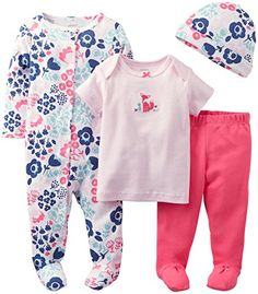 Carter\'s Baby Girls\' 4 Piece Layette Set (Baby) - Pink - 6 Months Carter\'s http://www.amazon.com/dp/B00KH8RAYY/ref=cm_sw_r_pi_dp_7vNTub00P4XG2