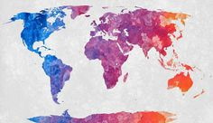 World map with an abstract acrylic texture. I would like to thank fellow dA artist Lara Mukahirn (aka TheParasiticBandaid) for painting the acrylic part. World Map - Exclusive Abstract Acrylic Colorful Art, Free Textures, Travel Art, Abstract Acrylic, World Map Wallpaper, Paint Set, Painting Prints, Map Painting, Abstract