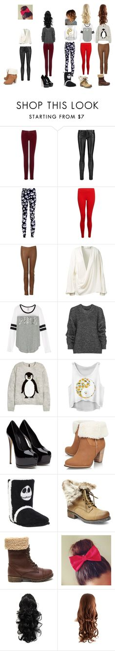 """""""Untitled #4"""" by carebear-wood on Polyvore featuring AG Adriano Goldschmied, Maje, Hey Jo, Victoria Beckham, Belstaff, UGG Australia and Steve Madden"""