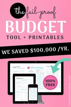 Here are the most epic budgeting worksheets for organizing your finances, s Budgeting Tools, Budgeting Worksheets, Budgeting Finances, Budget Binder, Monthly Budget, Ways To Save Money, Money Saving Tips, Money Tips, Managing Money