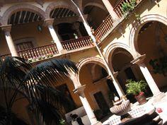 Beautiful courtyard in Patzcuaro,  Mexico
