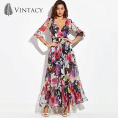 [US $23.03] & Vintacy Dresses for Women Vintage Maxi Dress  #dress #dresses #maxi #vintacy #vintage #women