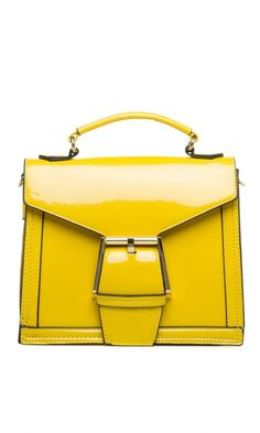 Yellow Patent Leathe