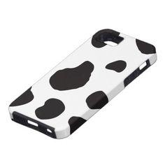 Animal Print Fur Skin Cow White, Black iPhone 5 Cases