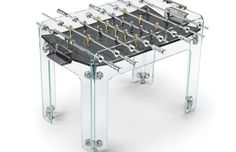 For a coffee table with attitude, look no further than Adriano Designs' Intervallo by Teckell. Teckell makes a range of designer foosball machines that are exquisite office and den amusements but not for the feint of wallet Gaming Furniture, Modern Furniture, Table Football, Baby Foot, Expensive Gifts, Table Games, Game Tables, Pool Tables, Glass