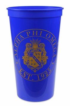 Alpha Phi Omega Big Plastic Stadium Cup SALE $1.95. - Greek Clothing and Merchandise - Greek Gear®
