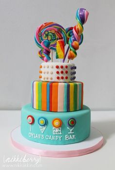Awesome Photo of Sweet Cake For Birthday . Sweet Cake For Birthday Candy Birthday Cakes Candy Land, Dylan's Candy, Candy Bar Party, Candy Theme, Candy Shop, Candy Birthday Cakes, Candy Cakes, Cupcake Cakes, Lollipop Cake