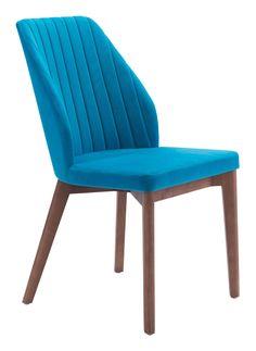 Vaz Dining Chair (Blue Velvet)