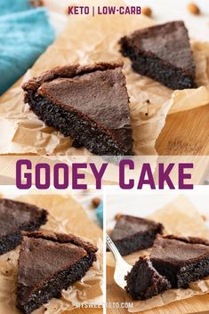Keto chocolate gooey cake Okay, so now is the time for chocolate. While you can choose from a number of chocolate–something recipes here on My Sweet Keto, this is the number one recipe if you are into the gooey stuff. I'm talking crunchy on the outside an Keto Desserts, Keto Snacks, Dessert Recipes, Easy Keto Dessert, Gooey Chocolate Cake, Gooey Cake, Flourless Chocolate Cakes, Low Carb Keto, Low Carb Recipes