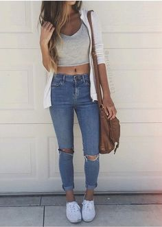 clothes, fashion, girl, jeans, long hair, outfit, style, summer