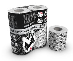 Hello Kitty / Kiss toilet paper #packaging