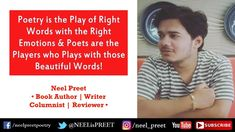 Types Of Poetry & Poetic Literary Devices