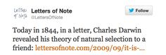 Letters of Note Letters Of Note, Natural Selection, Charles Darwin, Cute Animal Pictures, Puns, Fun Facts, Notes, Lettering, Thoughts