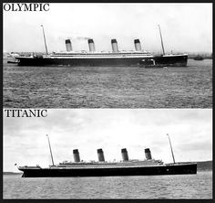 R.M.S. Titanic Swapped for R.M.S. Olympic    A 1912 conspiracy theory that alleges White Star Line executives switched the newly built Royal Mail Steamship (R.M.S.) Titanic for her sister ship, R.M.S. Olympic, after a collision with the H.M.S. Hawke resulted in damages not covered by the insurance company.   iRumorMill.com Determination: Under Investigation  Click on photo for more details and video