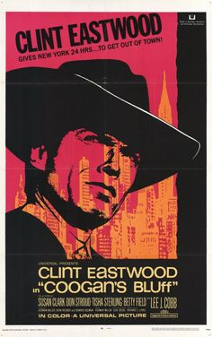 Coogan's Bluff (1968)  Clint Eastwood - Film Poster https://www.youtube.com/user/PopcornCinemaShow