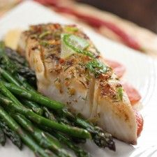 Tilapia with Coconut Lime Sauce