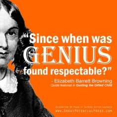 Elizabeth Barrett Browning Quote of the Day Quotable Quotes, Book Quotes, Quotes From Childrens Books, Elizabeth Barrett Browning, Gifted Kids, Great Quotes, Quote Of The Day, Writers, Wise Words