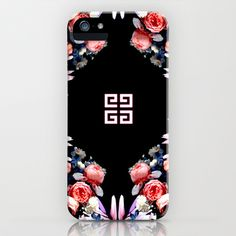 Givenchy+placed+roses+cady+skirt+with+full+back+zip+closure+iPhone+