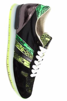 Serafini NEW RUNNING FLUO - Los Angeles black/green