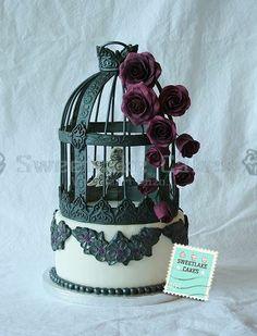 Goth Birdcage Cake