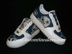 7bcef96377c8 Dallas Cowboys Custom Shoes  Nike Air Force Blazer