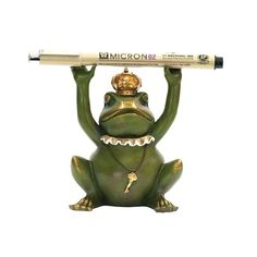 Sterling Industries 7-8198 Superior Frog Gatekeeper Pen Holder Painted Home Decor Accents Statues & Figurines