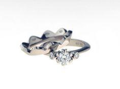 Saarikorpi Design, WaterLily set, W/VS diamonds