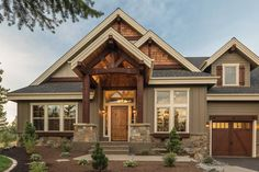 """The Carriage House Parade of Homes"""" - Craftsman - Exterior - Seattle - by Rosenberger Construction House Siding, House Paint Exterior, Dream House Exterior, Exterior House Colors, Dream House Plans, My Dream Home, Siding Colors, Ranch House Plans, Modern Farmhouse Exterior"""