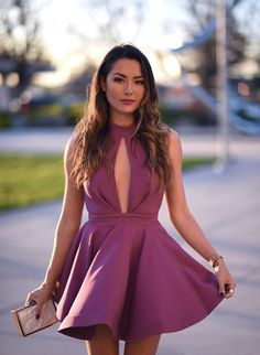 Jessica Ricks from Hapa Time, February 14, 2017. Wearing: Nasty Gal Factory Shanghai Surprise Cutout Dress in Pink ($68.00) | Jessica Simpson Heels.