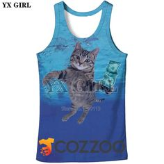 251a3126031ed YX tops men sea cat vest plus size summer