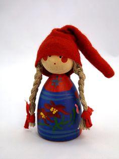 Christmas Girl Gnome with Braids