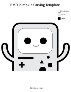 Happy BMO by Jannelle J. | 49 Free Templates For the Coolest Jack-O'Lantern on the Block | POPSUGAR Tech