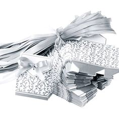 Tinksky Wedding Favor Boxes Gift Boxes with Ribbons-100pcs(Silver) ** Want to know more, click on the image.