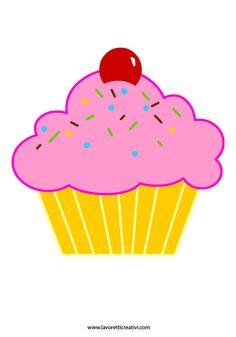 Cupcake: sagome per lavoretti