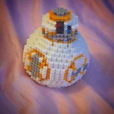 3D BB-8 Star Wars VII perler beads by slabbinckdesigns