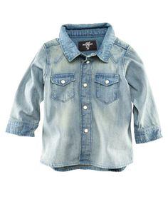 H & M Baby Boy's 4-24M Denim Shirt [$14.95]