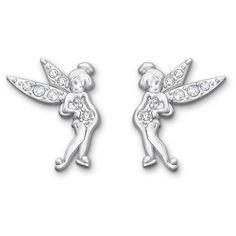Swarovski Tinker Bell Crystal Moonlight Pierced Earrings (700 MXN) ❤ liked on Polyvore featuring jewelry, earrings, disney, fairies, swarovski earrings, crystal earrings, sparkle jewelry, crystal jewellery and crystal pendant