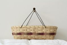 large biscuit basket with double wire handle by jasperjane on etsy, $26.00